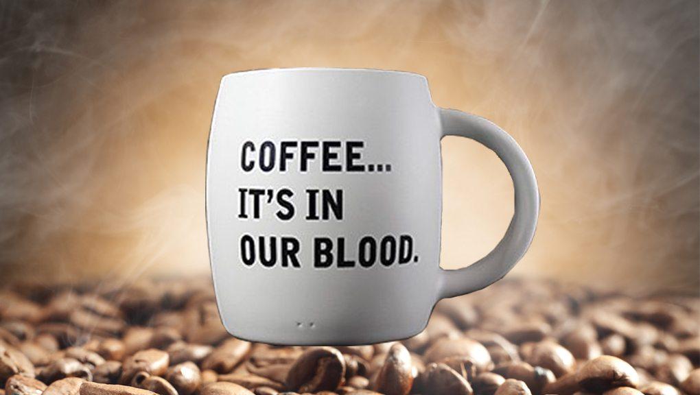 Grumpy Goat Coffee Mug It's In Our Blood