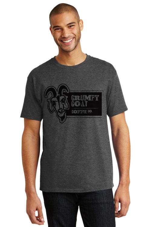 Grumpy Goat Coffee Dark Gray Tshirt