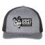Grumpy Goat Gray Trucker Hat with Black Mesh