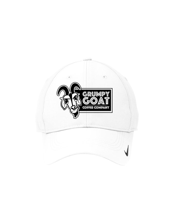 Grumpy Goat White Nike™ Golf Swoosh Legacy 91 Cap