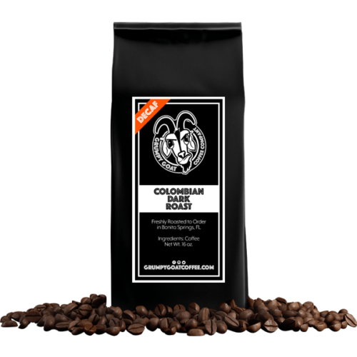 Grumpy Goat Coffee Colombian Decaf