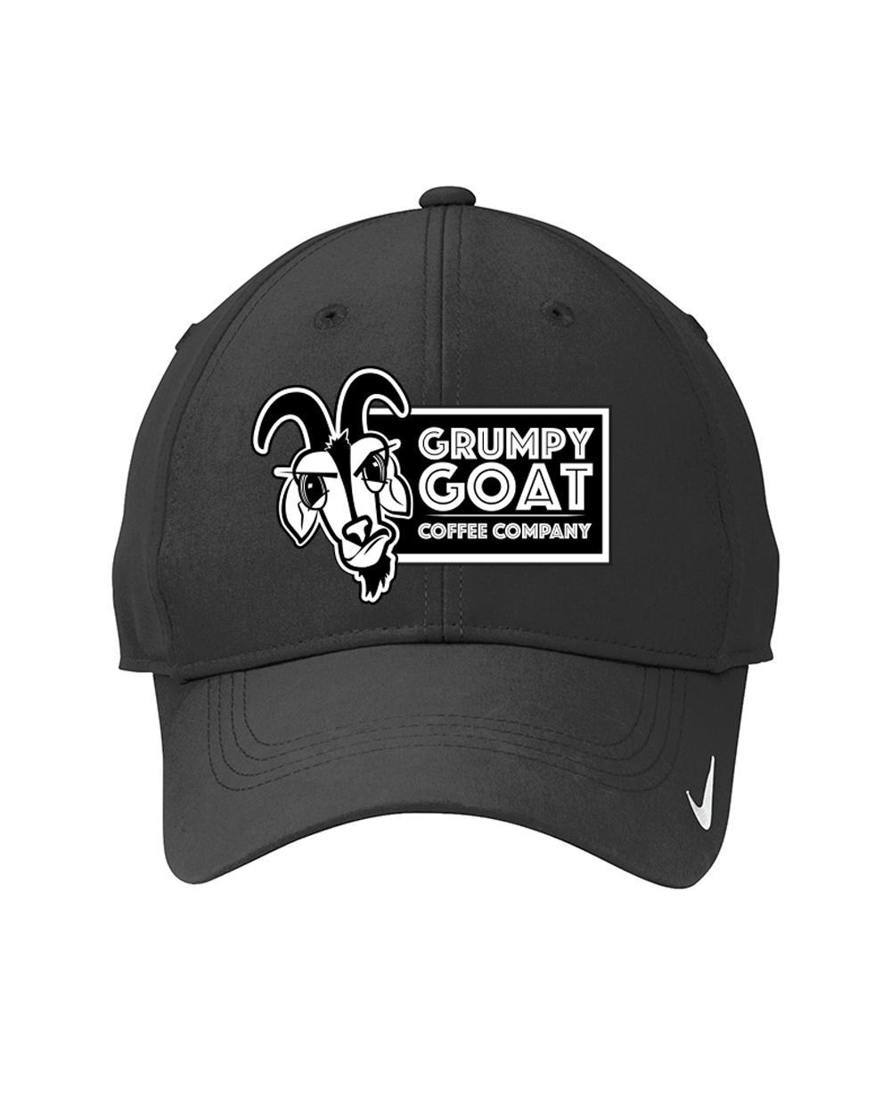 abb22aa3263b7 Grumpy Goat Coffee Black Nike™ Golf Swoosh Legacy 91 Hat
