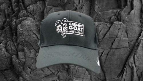 grumpy goat nike black swoosh hat