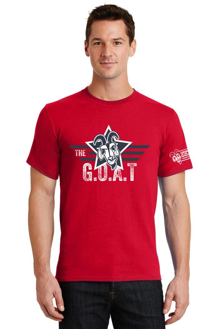The GOAT Patriotic Star T-Shirt Red