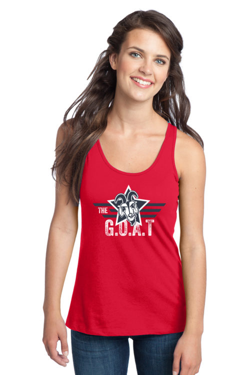 The GOAT Patriotic Star Womens Tank Top Red