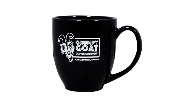 Black Grumpy Goat Coffee Mug