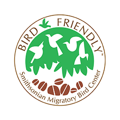 Bird Friendly Habitat logo by Smithsonian Migratory Bird Center